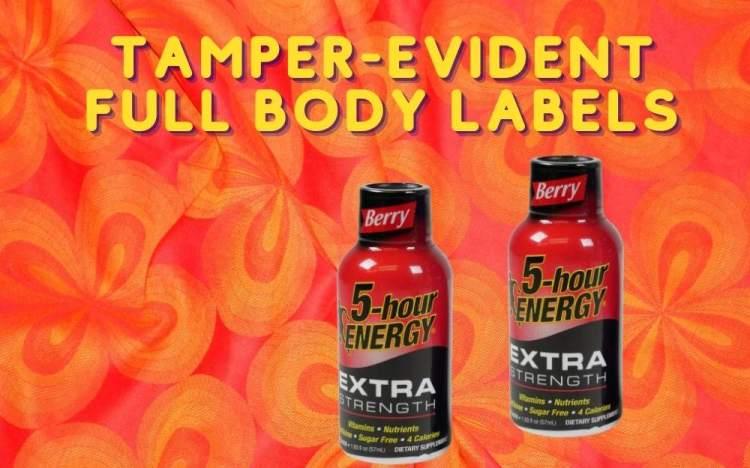 Get Custom Shrink Sleeve Labels For Energy Shot Bottles tamper-evident